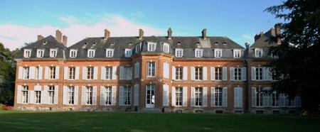 L`arrière du château avec les appartements de l`Impératrice.